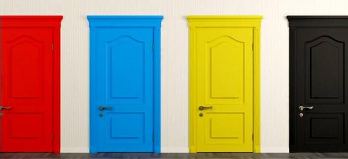 رنگ آمیزی درب های داخلی