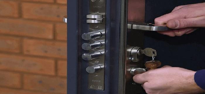 تنظیم درب ضد سرقت